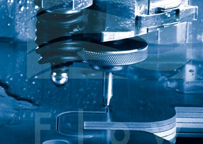 Water jet cutting example with Flow