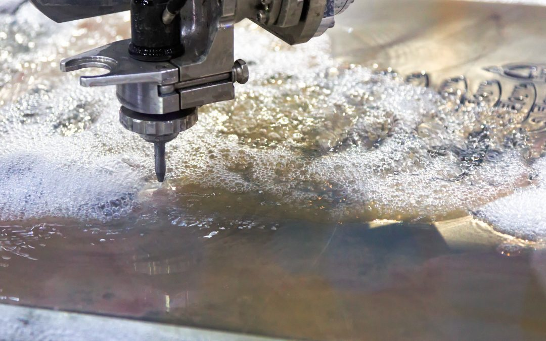 What materials can be cut by water jetting?